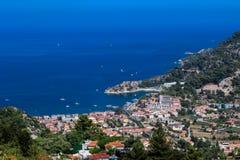 Turecczyzna Riviera Turunc, Marmaris - nad widok Fotografia Royalty Free