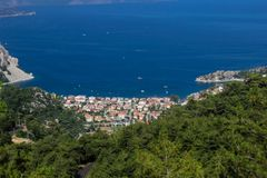 Turecczyzna Riviera Turunc, Marmaris widok - obraz stock