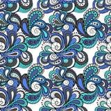 Turecczyzny deseniowy błękit Obrazy Stock
