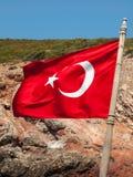 Turecczyzny flaga Zdjęcia Stock