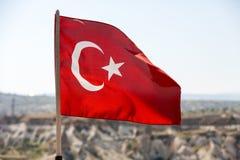 Turecczyzny flaga Fotografia Royalty Free