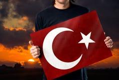 Turecczyzny flaga, Turcja, Chorągwiany projekt Obrazy Stock