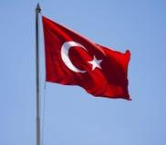 turecka flaga Zdjęcia Stock