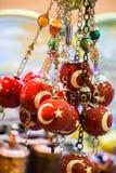 Turecka flaga państowowa rysująca dekoracyjny koralik Zdjęcia Stock