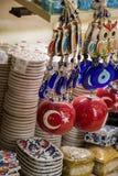 Turecka flaga państowowa rysująca dekoracyjny koralik Fotografia Royalty Free