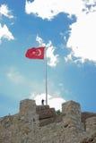 Turecka flaga państowowa Obrazy Royalty Free