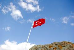 Turecka flaga państowowa Obrazy Stock