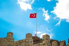 Turecka flaga państowowa Zdjęcie Royalty Free