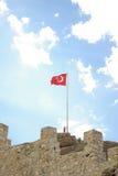 Turecka flaga państowowa Zdjęcia Royalty Free