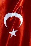 Turecka flaga państowowa w widoku i Obraz Royalty Free