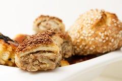 Turecka kuchnia - ciasta zbliżenie Zdjęcia Royalty Free