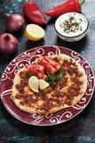 Turecka mięsna pizza Fotografia Stock