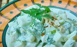 Turecka sałatka z zucchini i jogurtem zdjęcia royalty free
