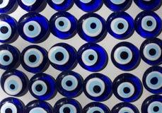 Turecki amulet przeciw złemu oku 3d ilustracja odpłacający się ochrony symbol zdjęcie stock