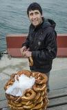 Turecki bagel sprzedawca Obrazy Royalty Free