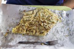 Turecki blin z serem i grulą obrazy stock