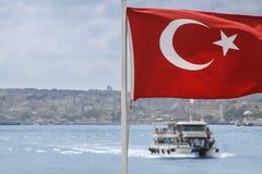 Turecki Chorągwianej łodzi widok Zdjęcie Royalty Free