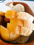 Turecki karmowy pojęcie Wiele kawałki pokrojony Turecki chleb ar Obrazy Stock