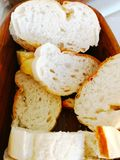 Turecki karmowy pojęcie Wiele kawałki pokrojony Turecki chleb ar Zdjęcie Stock