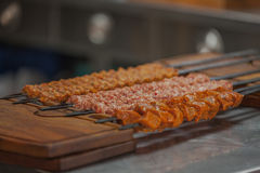 Turecki kebabu grill Zdjęcia Stock