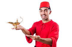 Turecki mężczyzna z lampą Zdjęcie Stock