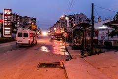 Turecki miasteczko Przy nocą Obraz Royalty Free