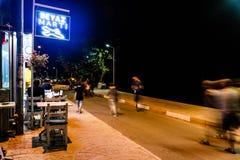 Turecki miasteczko Przy nocą Obraz Stock