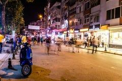 Turecki miasteczko Przy nocą Obrazy Stock
