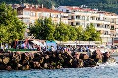Turecki miasteczko W lecie Zdjęcia Stock