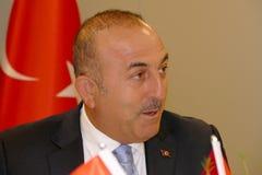 Turecki minister spraw zagranicznych Mevlut Cavusoglu obraz royalty free