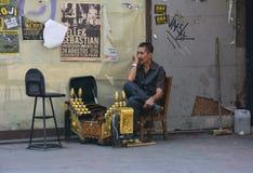 Turecki obuwiany shiner Fotografia Royalty Free