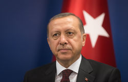 Turecki prezydent Recep Tayyip Erdogan Zdjęcia Royalty Free