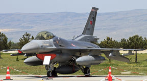 Turecki siły powietrzne F-16 Zdjęcia Royalty Free