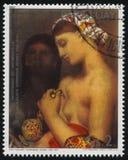 Turecki skąpanie Jean Auguste Dominique Ingres fotografia royalty free