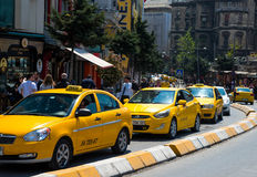 Turecki taxi Taksim kwadrat Zdjęcie Stock