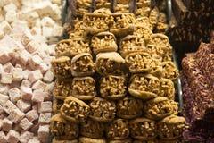 Turecki zachwyt i cukierki Fotografia Stock