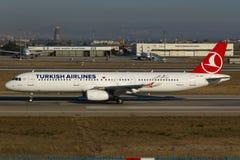 tureckie A321 linie lotnicze Airbus Obraz Royalty Free