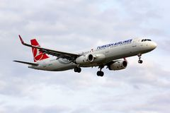tureckie A321 linie lotnicze Airbus Obrazy Stock