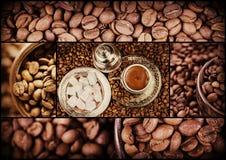 Tureckiej kawy kolaż Zdjęcie Royalty Free
