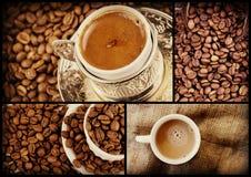Tureckiej kawy kolaż Fotografia Royalty Free