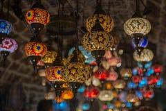 Tureckiej mozaiki lampowy orientalny tradycyjny światło Obrazy Stock