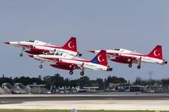 Tureckiej siły powietrzne pokazu Aerobatic drużyna Zdjęcie Royalty Free
