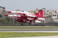 Tureckiej siły powietrzne pokazu Aerobatic drużyna Obrazy Royalty Free