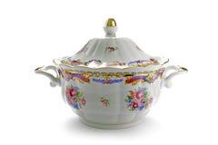Tureen tradicional da porcelana foto de stock royalty free