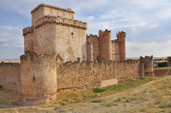 Turegano castle, Castile, Spain. Turegano medieval fortified castle and ruins. Castile region, Spain Royalty Free Stock Photography