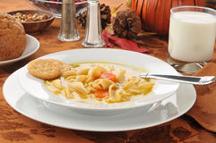 Free Tureky Soup On A Holiday Dinner Table Royalty Free Stock Photos - 27355658
