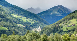Tures城堡,坎波图雷斯, Sudtirol,意大利 库存照片