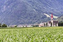 Tures en el valle de Aurina en las montañas, Italia Foto de archivo libre de regalías