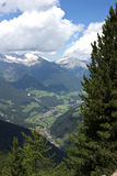 The Tures Valley in South Tyrol, view from Speikboden mountain Stock Photos