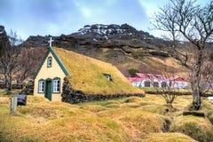 Turf church Hof Iceland Royalty Free Stock Photography